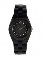 WE WOOD OROLOGIO IN LEGNO ODYSSEY CRYSTAL BLACK 100 NATURAL