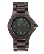 WE WOOD OROLOGIO IN LEGNO KALE BLACK GREEN 100 NATURAL