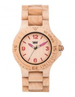 WE WOOD OROLOGIO IN LEGNO KALE BEIGE PINK 100 NATURAL