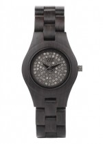 WE WOOD OROLOGIO IN LEGNO MOON CRYSTAL BLACK 100 NATURAL