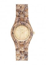 WE WOOD OROLOGIO IN LEGNO CRISS PYTHON BEIGE 100 NATURALE